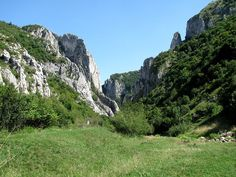 Turda Gorges (south-east of Cluj) seen from the west end