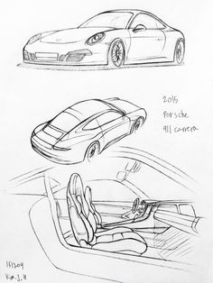 68 best denzel experiments images car drawings drawing art 1970 Citroen DS 21 car drawing 151209 2015 porsche 911 carera prisma on paper kim j h
