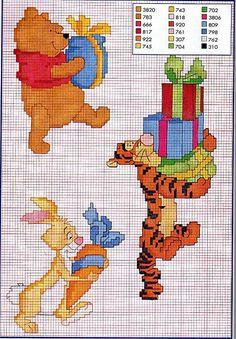 tappo punto croce tigro pooh 69