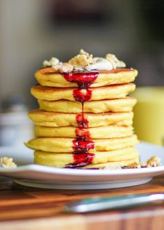 Almond Flour Pancakes | Grain-free, gluten-free, sugar-free, dairy-free pancakes for a protein-packed healthful breakfast | TheRoastedRoot.net #healthy #glutenfree #paleo #primal TheRoastedRoot.net