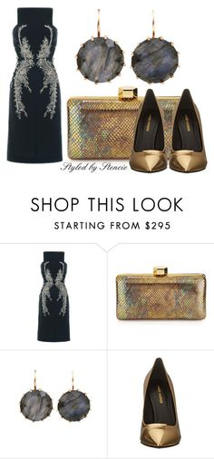 """""""The Jewel"""" by stencie on Polyvore featuring Antonio Berardi, Milly, Andrea Fohrman and Pierre Balmain"""