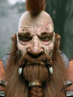Dwarf Warrior by Ale Barbosa