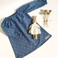 Baby girls long sleeve denim dress love heats