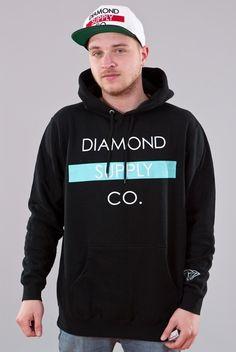 Diamond Bar Hoodie-Black