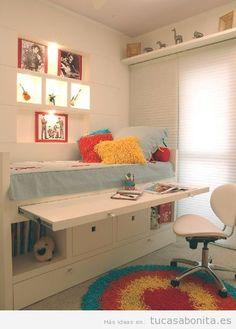 Ideas decoración y muebles habitación infantil pequeña 4