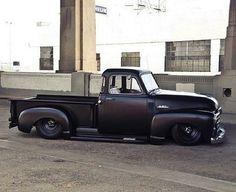 Black Slammed GMC Truck