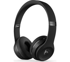 BEATS BY DR DRE  Solo 3 Wireless Bluetooth Headphones - Black, Black Price: £ 249.95 Top features: - Wirelessly connect to your iPhone, Apple Watch, iPad and Mac - Listen to award-winning Beats sound - Enjoy multi-day use with up to 40 hours of battery life - Adjustable fit with cushioned foldable ear cups - Take calls, control your music and activate Apple Siri with on-ear controls...