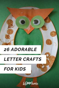 Kids generally love hands on activities and lessons. Easy crafts are always a great way to get them using their hands and their minds churning. Toddler Preschool, Toddler Crafts, Toddler Activities, Toddler Learning, Winter Activities For Kids, Preschool Activities, Letter Activities, Projects For Kids, Crafts For Kids