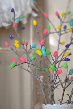 Jelly Bean Tree Easter craft for kids.