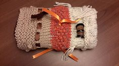 Can be made with any yarn, though chunky is best. This is a great way to use up leftovers