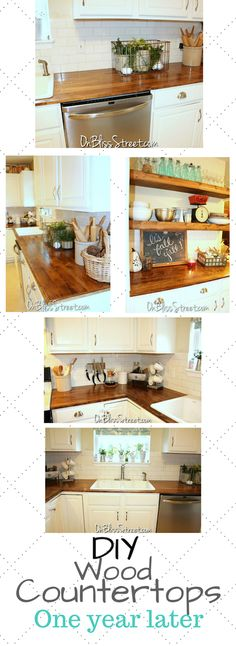Diy wood countertops update one year later