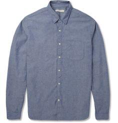 Oliver Spencer - Flecked Slub-Chambray Shirt