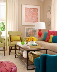 Rengarenk ev dekorasyonları 9
