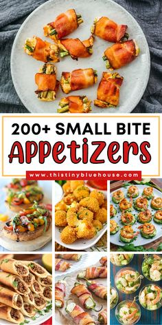 Looking for delicious appetizer ideas? Here are over 200 easy small bite appetizers perfect for any special gathering as a starter. Best Party Appetizers, Bite Size Appetizers, Appetizer Ideas, Yummy Appetizers, Appetizer Recipes, Easy Holiday Recipes, Party Finger Foods, Easy Food To Make, Food Inspiration