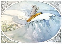 Reepicheep atop a wave. - Narnia -- Love, on so many levels <3