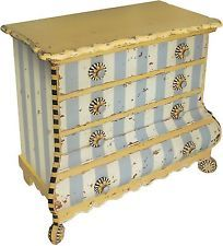 Dresser Cabinet 4 Drawer Chest Shabby Chic Wood Storage French Painted Vintage