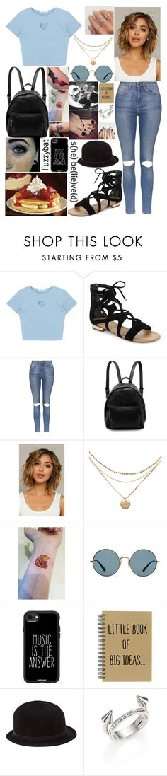 """""""644"""" by fuzzybat ❤ liked on Polyvore featuring Saks Fifth Avenue, Topshop, STELLA McCARTNEY, Ray-Ban, Casetify, GET LOST, REINHARD PLANK and Vita Fede"""