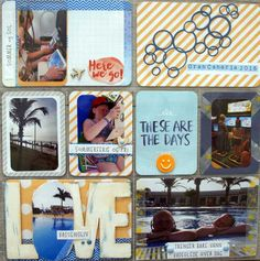 Project life summer Here Goes, Project Life, Scrapbook, Day, Frame, Summer, Projects, Decor, Log Projects