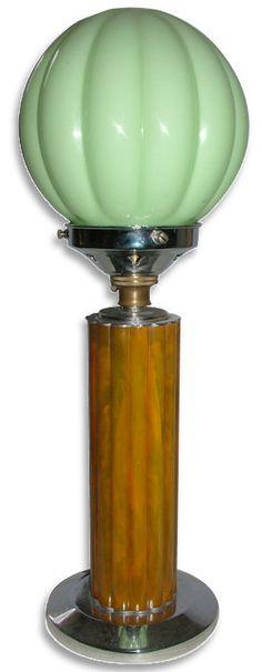 Art Deco Catalin Lamp