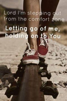 Letting go, and trust God.