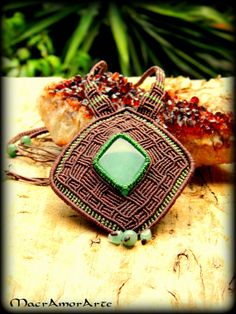 Green Aventurine Macramé Pattern Necklace
