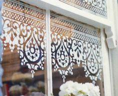 Cafe Cartolina: Window stencils