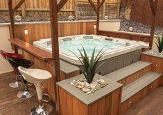 Hot Tub Gazebo, Hot Tub Garden, Hot Tub Backyard, Backyard Pools, Pool Decks, Pool Landscaping, Jacuzzi Outdoor, Outdoor Spa, Deck Jacuzzi Ideas