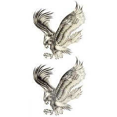 HJLWST 1pc Bald Eagle Animal Waterproof Body Art Tattoo Pattern Temporary Tattoos Sticker(18.5cm8.5cm). Tattoo sticker use green ink and glue, is harmless to human body. Paste the successful design with waterproof and sweat-proof function, will not fall off in the shower, but do not rinse with hot water for too long, should not be rubbed with. Different parts of the pattern paste, duration of different patterned after 3-5 days began to fall under normal usage conditions, feet and other…