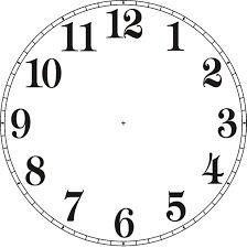 Znalezione obrazy dla zapytania clock face template roman numerals