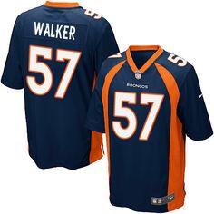 Men's Nike Denver Broncos #57 Demarcus Walker Game Navy Blue Alternate NFL Jersey
