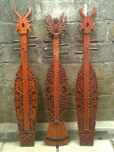 Sape - traditional Sarawak Dayak Tribe musical instruments.