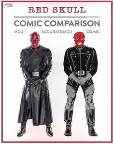 """Red Skull"" comic comparison."