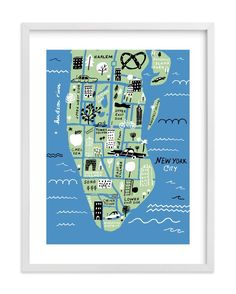 """""""I love New York"""" - Limited Edition Art Print by Jordan Sondler in beautiful frame options and a variety of sizes."""