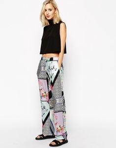 River Island Mix Print Trouser at asos.com #bottoms #pants