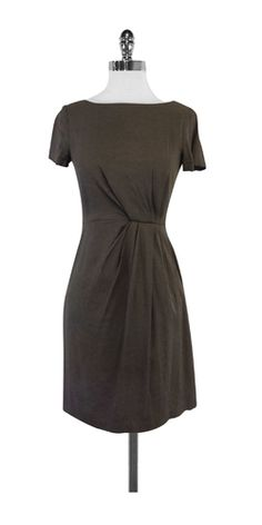 Theory Taupe Short Sleeves Dress