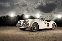 The XK120 was not only a celebrity car of choice, but a top speed of over 100-mph made it a potent race car as well