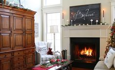 Una casa rústica en Navidad