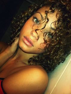 long curly kinky black hair