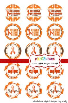 Bottle Cap Image Sheet  Multiple Sclerosis by pixelilicious