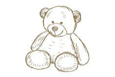 Hand drawn Teddy bear by Booblgum on Creative Market Teddy Bear Sketch, Teddy Bear Drawing, Cute Drawings, Animal Drawings, Teddy Bear Tattoos, Bear Vector, Bear Illustration, Bear Cartoon, Cute Teddy Bears