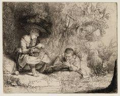 Mijn favoriete Rembrandt in Teylers Museum: De fluitspeler (lEspigle) (B188)