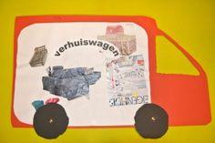 • Verhuiswagen knippen en plakken •