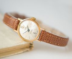 Delicate women's watch Glory classy gold plated by SovietEra
