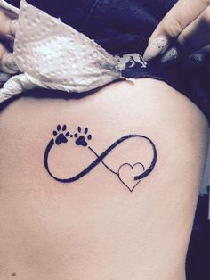 infinity symbol with paw prints - Google Search