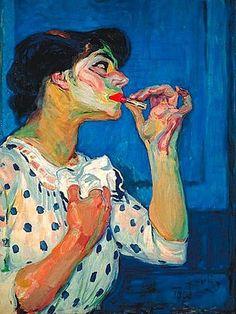 Frantisek Kupka, Le rouge à lèvres II on ArtStack Figure Painting, Painting & Drawing, Frantisek Kupka, L'art Du Portrait, Portraits, Blog Art, Figurative Kunst, Piet Mondrian, Art Et Illustration