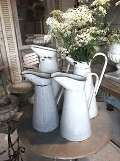 ShabbyPassion: French Enamel Watering Pitchers... a MUST! [Brocche ...