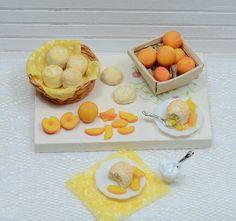 Miniature Peach Shortcake Set by CuteinMiniature on Etsy