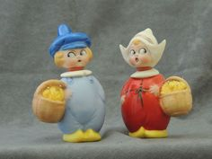 Artist Reproduction by Katha Engblom Dutch Twins Needle Keepers Novelty Sewing