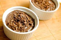 Mousse al cioccolato con acqua