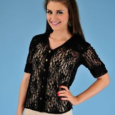 What could be sexier than black lace? Wear this over a patterned bustier for maximum effect.
